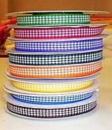 Galantéria - Kárované stuhy - rôzne farby - 7325255_