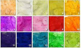 Iný materiál - Pierka na dekoráciu - balenie 10 g - 7325344_