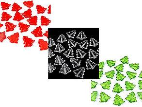 Korálky - Vianočné dekorácia - stromček - 7325298_