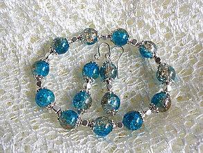 Sady šperkov - Sada Náramok + Náušnice Tyrkys veľ.S - 7323636_