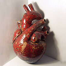 Socha - Keramické srdce - 7324575_