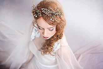 Ozdoby do vlasov - Zlatá vintage korunka \