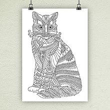 Kresby - Mačka 26. - 7326009_