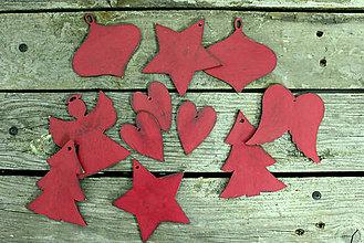 Dekorácie - Červené Vianoce - 7324374_