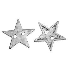 Galantéria - Strieborná hviezdička - 7325368_