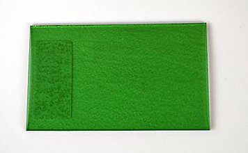 Suroviny - Sklo svetlo zelená dúha, zn. Bullseye - 7329403_