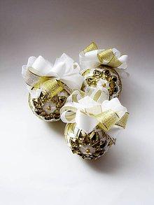 Dekorácie - Vianočná sada ,,Gold Christmas