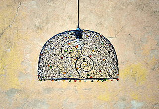 Svietidlá a sviečky - pan Podzim. Drátovaný lustr. - 7330460_