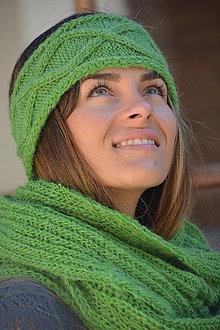 Ozdoby do vlasov - zelená čelenka - 7327806_