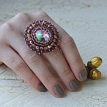 Prstene - Vitrail Light - vyšívaný prsten - 7329139_