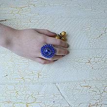 Prstene - Sapphire - vyšívaný prsten - 7329844_