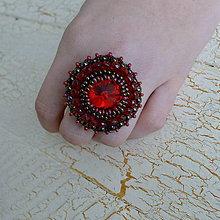 Prstene - Siam - vyšívaný prsten - 7329870_