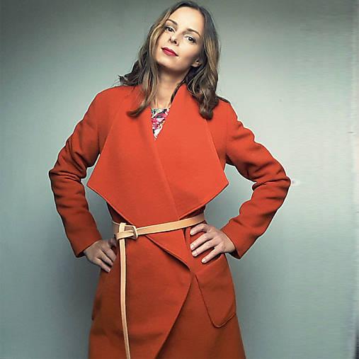 Kabáty - Vlnený kabát Savona orange - 7331210_