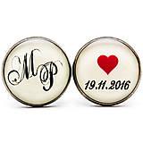 Deň D - svadobné manžetové gombíky
