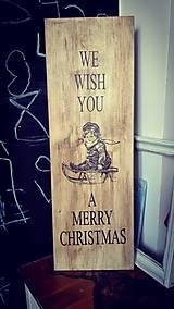 Doska - vianočná dekorácia