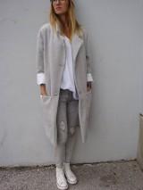 - : sivý  OVERSIZE  kabát : - 7327884_