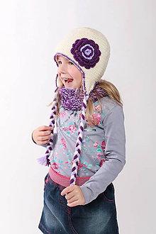 Detské čiapky - zateplený setík - 7329993_