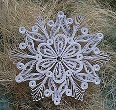 Dekorácie - Vianočná hviezda/vločka - 7330160_