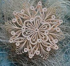 Dekorácie - Vianočná hviezda/vločka_zlatá - 7330202_