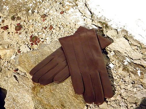 50c81a069c0 Hnědé pánské kožené rukavice s vlněnou podšívkou   berja - SAShE.sk ...