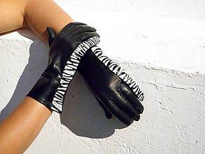 Rukavice - Černé safari - dámské kožené rukavice s hedvábnou podšívkou - celoroční - 7329776_