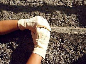 Rukavice - Dámské kožené rukavice z jelenice - ručně šité - 7329793_