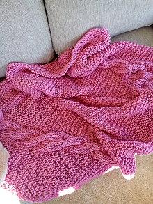 Úžitkový textil - Ružová deka - 7328367_
