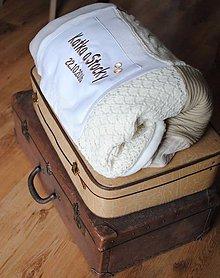 Úžitkový textil - Deka/prikrývka pre mladomanželov - 7332013_