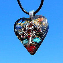Náhrdelníky - Granátový Strom Života * amuletový šperk - 7334136_
