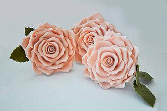 Drobnosti - Ruža z marcipánu XL - 7335147_