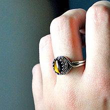 Prstene - Vintage Tiger Eye & Silver Ag 925 / Strieborný vintage prsteň s prírodným tigrím okom - 7332501_