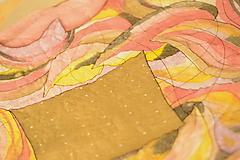 Ručne maľovaná hodvábna ŠATKA so zaujímavým vzorom.