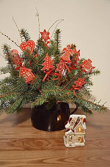 Dekorácie - Vianočné drevené zápichy - 7333858_