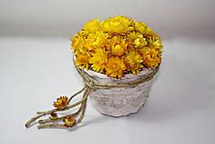 Dekorácie - Košíček 'slnko ukryté v kvetinách' - 7336073_