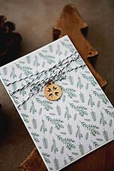 - Vianočná scrapbook pohľadnica - vetvičky - 7336373_