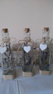 Dekorácie - Zľava,Sklenená flaša - 7333521_