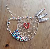 Iné doplnky - Vtáčik so srdcom na krídle - 7334528_