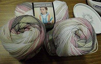 Galantéria - Yarn Art Dancing Baby ružová melirovaná č.812 - 7333738_