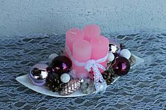 Dekorácie - adventný veniec _ ružové slzy - 7337152_