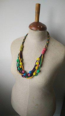 Náhrdelníky - Originálny náhrdelník pestrofarebný - 7333932_
