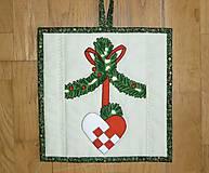 Úžitkový textil - Chňapka vianočná - dva varianty - 7336181_