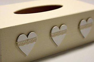 Krabičky - HM - Krabička na papierové vreckovky - podstava obdĺžnik - 7333086_