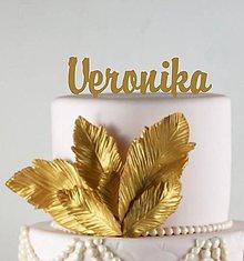 Iné doplnky - zápich na tortu - meno (Strieborná) - 7335121_