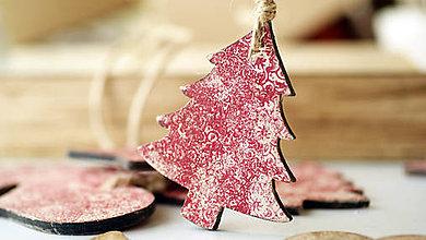 Dekorácie - Drevená ozdoba, vianočný stromček - 7334792_