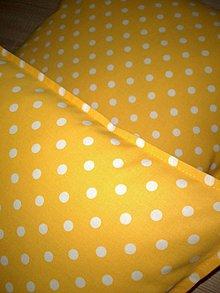 Úžitkový textil - Žlté vankúšiky:) - 7334168_