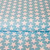 - tyrkysové hviezdy, 100 % bavlna, šírka 160 cm, cena za 0,5 m - 7334559_