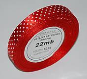 - Stuha červená s bodkami 12mm/ 22m-balenie - 7333742_