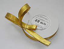 Galantéria - Stuha zlatá 12 mm/22 m- balenie - 7333843_