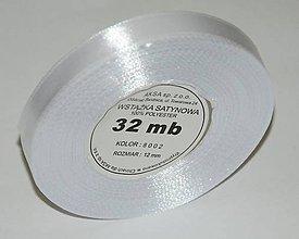Galantéria - 8002/ Stuha biela 12 mm/32 m- balenie - 7333510_