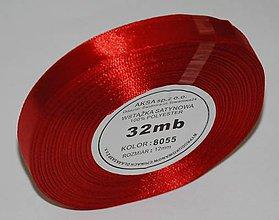 Galantéria - Stuha červená 12 mm/32 m- balenie - 7333726_